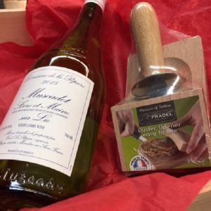 Muscadet and oyster opener