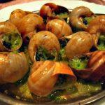 Snails in garlic butter