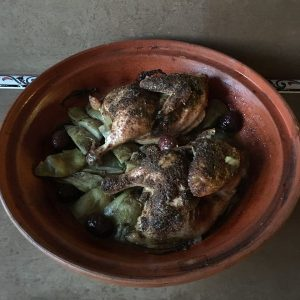 Tagine with Cornish Hens