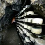 Cabrales aging in natural caves