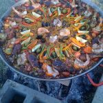 paella over fire