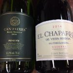 Can Feixes blanco and El Chapparral Garnacha wines