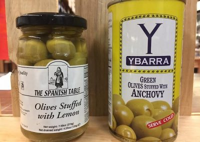 ParisMadridGrocery_Ybarra Anchovy Stuffed and TST Lemon Stuffed Olives