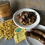 Duck sausage with lentils