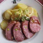 saucisson lyonnais with potatoes