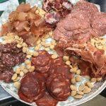 Meat snack platter
