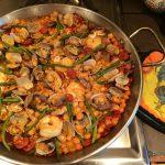 garbanzo seafood paella
