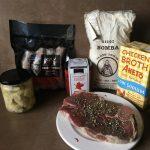 Lamb paella ingredients