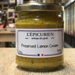 Preserved lemon cream