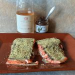 salmon with olivada